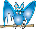 Blue bat Stock Photo