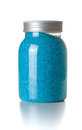 Blue bath sea salt Royalty Free Stock Photos