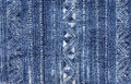 Blue batik cloth pattern indigo dyed from vietnam Royalty Free Stock Photo