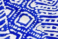 Blue Batik Fabric Stock Photo