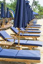Blue Beach Bench Royalty Free Stock Image