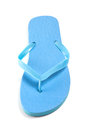 Blue beach flip flop isolated on white background Royalty Free Stock Photography