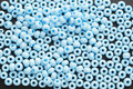 Blue beads Royalty Free Stock Photo