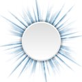 Blue beams and circle Christmas background Royalty Free Stock Photo