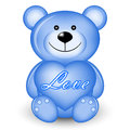 Blue bear with heart Royalty Free Stock Photos