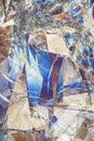 Modrý a béžový abstraktné