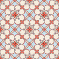 Blue and beige floral pattern Royalty Free Stock Photo