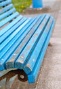 Blue bench detail Royalty Free Stock Photo