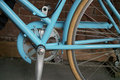 Blue Bicycle Brooklyn New York Royalty Free Stock Photo