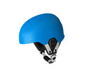 Blue bicycle helmet isolated Royalty Free Stock Photo