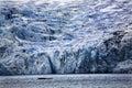 Blue Big Portage Glacier Anchorage Alaska Stock Photo