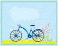 Blue bike on an abstract background Royalty Free Stock Photo