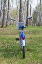 Blue bike Royalty Free Stock Photo