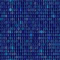 Blue Binary Background Royalty Free Stock Photo