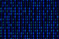 Blue binary numbers on digital screen background Royalty Free Stock Image