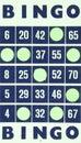 Blue bingo card isolated Royalty Free Stock Photo