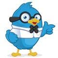 Modrý pták osoba která má hluboké technické a odborné znalosti