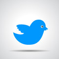 Blue bird icon Royalty Free Stock Photo