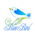 Blue bird logo icon illustration Stock Photos