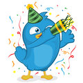 Blue bird party clipart picture of a cartoon character Stock Photo