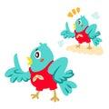 Blue bird talking Royalty Free Stock Image