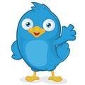 Modrý pták mávání