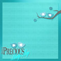 Blue birds for baby's sweet background Royalty Free Stock Photo