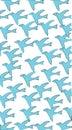 Blue birds bird art abstract brand branding business card clip art