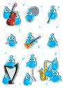 Blue Birds Instrument Set_eps Stock Photos