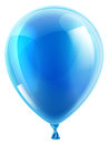 Blue birthday or party balloon an illustration of an isolated Stock Photography