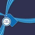 Blue birthday ribbon Royalty Free Stock Photos