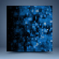 Blue and black abstract template for website banner business card invitation postcard Stock Photos