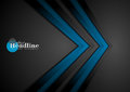 Blue and black contrast tech arrows background