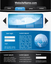 Blue and black editable  website template Royalty Free Stock Image