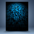 Blue and black geometric abstract background Royalty Free Stock Photo
