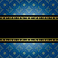 Blue and black vintage background vector eps Royalty Free Stock Photo