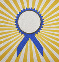 Blue blank award Royalty Free Stock Image