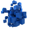 Blue blocs Royalty Free Stock Images