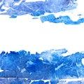 Blue blot frame.