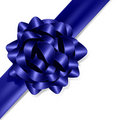 Blue blow with blue ribbon Stock Photo