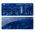 Blue boarding card Royalty Free Stock Photo