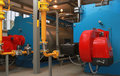Blue Boilers And Red Gas Burners