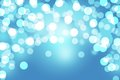 Blue bokeh abstract light background blurred festive Royalty Free Stock Photo