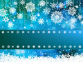 Blue bokeh of christmas lights. EPS 8 Stock Images