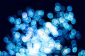 Blue bokeh effect Royalty Free Stock Photography