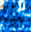 Blue bokeh with music note Royalty Free Stock Photography
