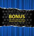 Blue bonus Royalty Free Stock Photo