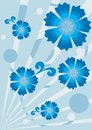 Blue botany pattern Royalty Free Stock Photos