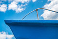 Blue bow of a fishing boat in the south of italy Stock Photography