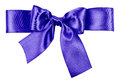 Blue bow made from silk ribbon Royalty Free Stock Images